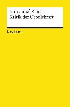 Kritik der Urteilskraft - Kant, Immanuel