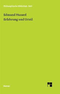Erfahrung und Urteil - Husserl, Edmund