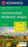 KOMPASS Wanderkarte Liechstenstein - Feldkirch - Vaduz