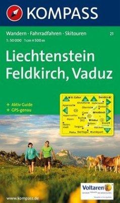 Kompass Karte Feldkirch, Vaduz
