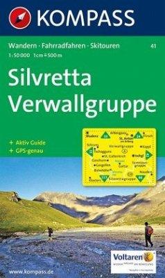 Kompass Karte Silvretta, Verwallgruppe