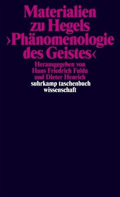 Materialien zu Hegels Phänomenologie des Geistes - Hegel, Georg Wilhelm Friedrich
