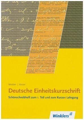 Stenographie deutsche einheitskurzschrift