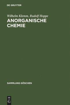 Anorganische Chemie - Klemm, Wilhelm; Hoppe, Rudolf