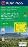Kompass Karte Südtirols Süden; Bolzano Vigneti e Dolomiti