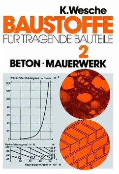 Baustoffe für tragende Baustoffe 2. Beton, Maurerwerk. Nichtmetallisch - anorganische Stoffe - Wesche, Karlhans