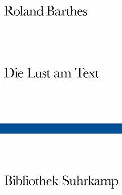 Die Lust am Text - Barthes, Roland