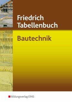Friedrich Tabellenbuch Bautechnik - Gipper, Karl-Jürgen; Labude, Manfred; Labude, Ulrich; Lohse, Peter; Scheurmann, Martin; Wiedemann, Hans-Jörg