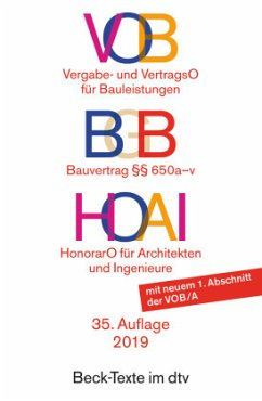 VOB - Vergabe- und Vertragsordnung für Bauleistungen / HOAI - Honorarordnung für Architekten und Ingenieure