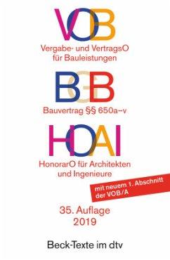 9783423055963 - Mit e. Einf. v. Ulrich Werner u. Walter Pastor: VOB - Vergabe- und Vertragsordnung für Bauleistungen / HOAI - Honorarordnung für Architekten und Ingenieure - Buch