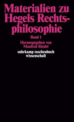 Materialien zu Hegels Rechtsphilosophie I - Hegel, Georg Wilhelm Friedrich