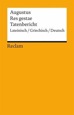 Tatenbericht / Res gestae - Augustus, Kaiser