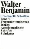 Fragmente vermischten Inhalts, Autobiographische Schriften / Gesammelte Schriften, 7 Bde. in 14 Tl.-Bdn., Kt Bd.6