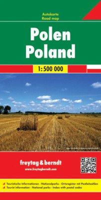 Freytag & Berndt Autokarte Polen 1:500.000; Polska; Pologna; Poland; Pologne