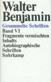 Fragmente vermischten Inhalts, Autobiographische Schriften / Gesammelte Schriften, Ln Bd.6