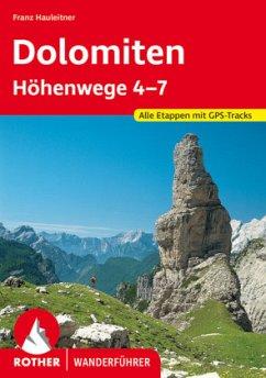 Dolomiten Höhenwege 4-7 - Hauleitner, Franz