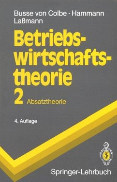 Betriebswirtschaftstheorie - Busse von Colbe, Walther; Laßmann, Gert