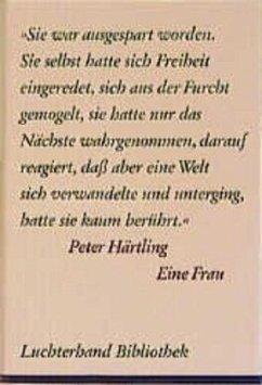 Eine Frau - Härtling, Peter