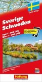 Schweden / Sverige Straßenkarte 1:800 000/1:900 000
