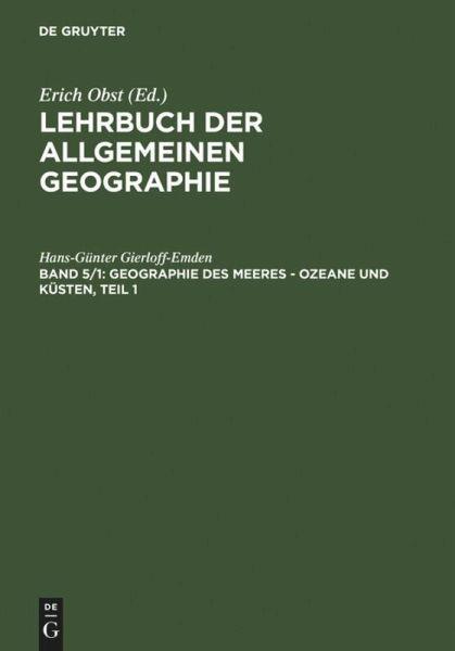 geographie des meeres ozeane und k sten teil 1 von hans g nter gierloff emden fachbuch. Black Bedroom Furniture Sets. Home Design Ideas