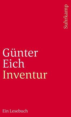 inventur von g nter eich taschenbuch. Black Bedroom Furniture Sets. Home Design Ideas
