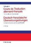 Cours de Traduction allemand-francais. Deutsch-französische Übersetzungsübungen