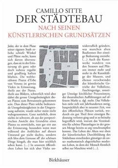 Der Städtebau nach seinen künstlerischen Grundsätzen - Sitte, Camillo