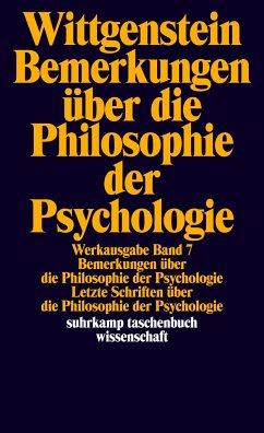 Bemerkungen über die Philosophie der Psychologie - Wittgenstein, Ludwig