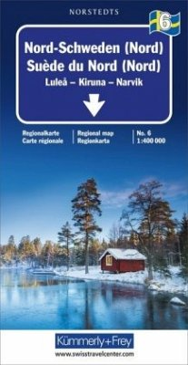 Kümmerly+Frey Karte Nord-Schweden (Nord) Regionalkarte; Suède du Nord (Nord) / Northern Sweden (North) / Norra Sverige (