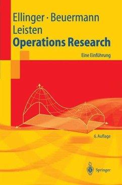 Operations Research - Ellinger, Theodor; Beuermann, Günter; Leisten, Rainer