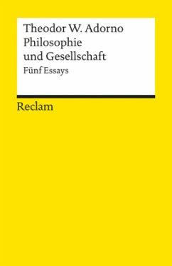 Philosophie und Gesellschaft - Adorno, Theodor W.