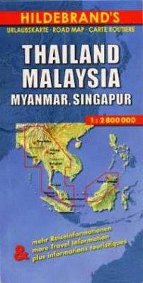 Hildebrand´s Urlaubskarte Thailand, Malaysia, M...