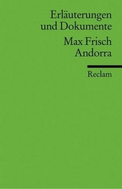 Andorra. Erläuterungen und Dokumente - Frisch, Max