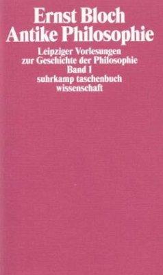 Leipziger Vorlesungen zur Geschichte der Philosophie 1/4 - Bloch, Ernst