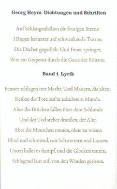 Dichtungen und Schriften Bd. 1: Lyrik / Dichtungen und Schriften, 4 Bde. Bd.1 - Heym, Georg