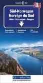 Kümmerly+Frey Karte Süd-Norwegen Regionalkarte; Norvège du Sud / Southern Norway / Soer-Norge