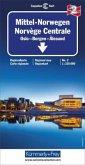 Kümmerly+Frey Karte Mittel-Norwegen, Oslo, Bergen, Alesund Regionalkarte; Norvège Centrale, Oslo, Bergen, Alesund; Centr
