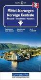 Kümmerly & Frey Karte Mittel-Norwegen; Norvege Centrale / Central Norway / Midt-Norge