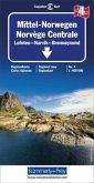 Kümmerly & Frey Karte Mittel-Norwegen, Lofoten, Narvik, Broennoeysund; Norvège Centrale, Lofoten, Narvik, Broennoeysund
