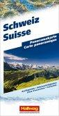 Hallwag Panoramakarte Schweiz; Suisse; Switzerland; Svizzera