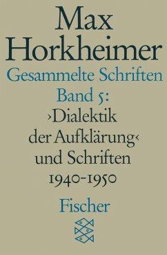 Gesammelte Schriften V - Horkheimer, Max