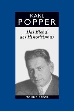 Das Elend des Historizismus. Studienausgabe - Popper, Karl R.