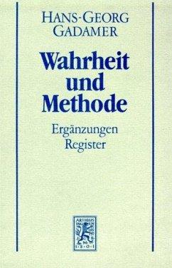 Hermeneutik II. Wahrheit und Methode. Studienausgabe - Gadamer, Hans-Georg