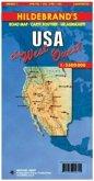 Hildebrand's Urlaubskarte USA West; USA the West; USA l' Quest