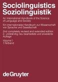 Sociolinguistics / Soziolinguistik. Volume 1