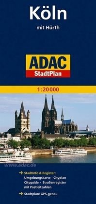adac stadtplan k ln mit h rth. Black Bedroom Furniture Sets. Home Design Ideas
