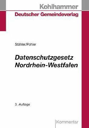datenschutzgesetz nordrhein westfalen kommentar von franz gerd st hler fachbuch b. Black Bedroom Furniture Sets. Home Design Ideas