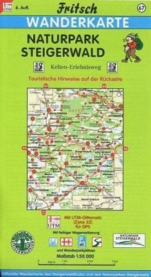 Fritsch Karte - Naturpark Steigerwald