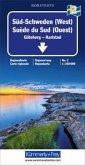 Kümmerly+Frey Karte Süd-Schweden (West) Regionalkarte; Suede du Sud (Ouest) / Southern Sweden (West) / Södra Sverige (Vä