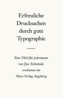 Erfreuliche Drucksachen durch gute Typografie - Tschichold, Jan